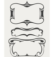set frames in art-deco style vector image vector image