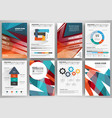 set of brochure design templates and infographics vector image vector image