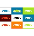 set of colorful logos of electro cars on vector image