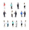 Set of talking people vector image vector image