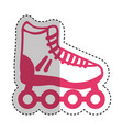 skate online isolated icon vector image vector image
