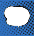 speech bubble on blue retro background vector image vector image