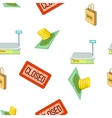 Supermarket equipment pattern cartoon style vector image vector image