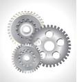 three silver gear cog icon vector image vector image