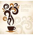 Coffee Time Vintage vector image