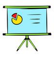 presentation screen icon icon cartoon vector image