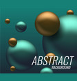3d balls background vector image vector image