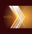 abstract arrow light on gold design modern future vector image