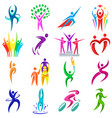 abstract people body shapes icons modern concept vector image vector image