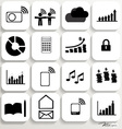Application icons design set 5 vector image