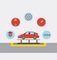 automotive industry car production conveyor spare vector image