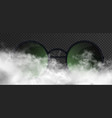 beautiful man or woman glasses with round green vector image vector image