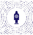 blue human target sport for shooting icon isolated vector image vector image