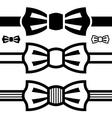 Bow tie black symbols