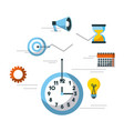 business clock time idea target speaker calendar vector image