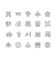 business clubs line icons signs set vector image vector image