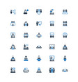 business conference icons vector image