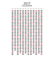 calendar 2017 for a year on white background vector image vector image