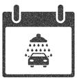 Car Shower Calendar Day Grainy Texture Icon vector image vector image
