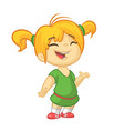 cartoon cute girl dancing vector image vector image