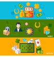 Casino Flat Banners vector image vector image