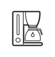coffee maker outline single isolated icon vector image