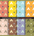 colorful graphic set 0f 8 ready to use pattern vector image vector image
