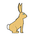 comic cartoon rabbit vector image vector image