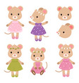 cute mouses flat vector image