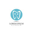 dental care logo and symbols template vector image