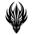 Dragon face symbol vector image vector image