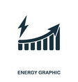 energy increase graphic icon mobile apps vector image vector image
