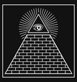 eye providence pyramid vector image vector image