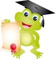 frog graduation vector image