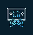 game over colorful line icon - gamepad with vector image vector image