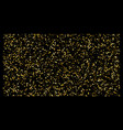 golden polka dot small confetti on black vector image vector image