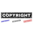grunge copyright scratched rectangle watermarks vector image vector image