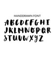 hand drawn lettering set alphabet custom vector image vector image