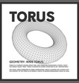 isolated low poly torus 3d model render vector image