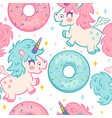 kids pattern with unicorns vector image