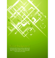 Light green geometrical design vector image vector image