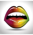 lip female beautiful d icon vector image vector image