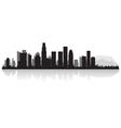 Los Angeles USA city skyline silhouette vector image vector image