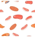 Meat pattern cartoon style vector image vector image