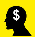 mind concept graphic for money-oriented vector image vector image
