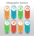 moden infographics banner vector image vector image