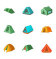 open area icons set cartoon style vector image vector image