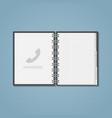 open phone ebook vector image vector image
