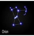 Orion Constellation with Beautiful Bright Stars on vector image vector image