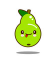 pear fruit cartoon character icon kawaii flat vector image vector image
